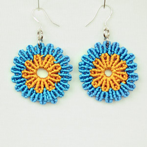 Circular Flower Earrings - Tutorial