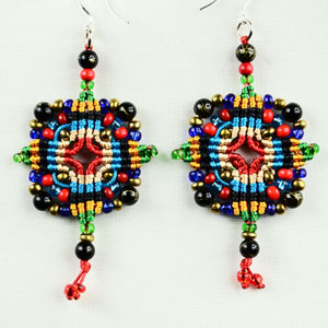 Macrame Cross-type earrings tutorial