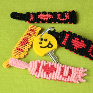 Knotted Keychain - I ❤ U - Tutorial