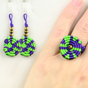 Macrame Ring and Earrings Tutorial