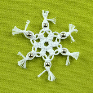 Macrame Snowflake with Beads
