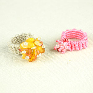 Sparkly Macrame Ring Tutorial