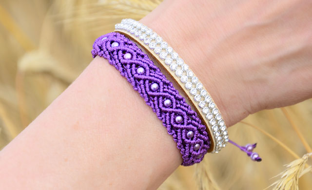 Eternal Wave Bracelet Tutorial Beaded Macrame Easy