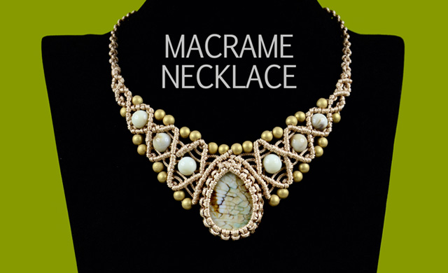 Macrame Necklace with Stone