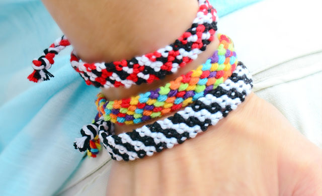 Rag Rug Friendship Bracelets