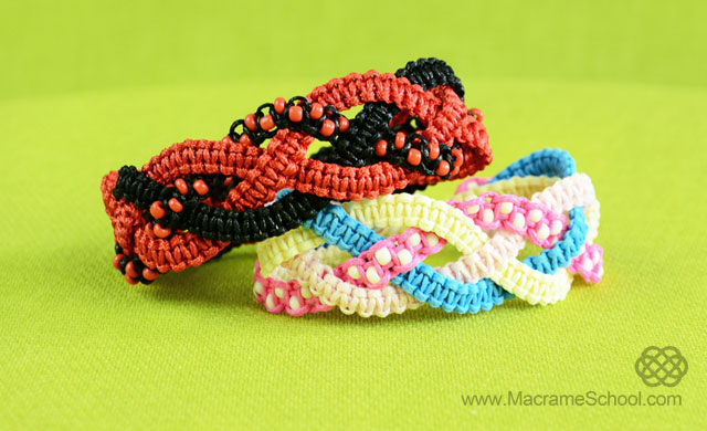 Braided Square Knot Bracelets