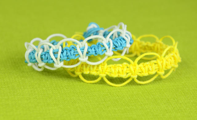 Easy Square Knot Loops & Circles Bracelet