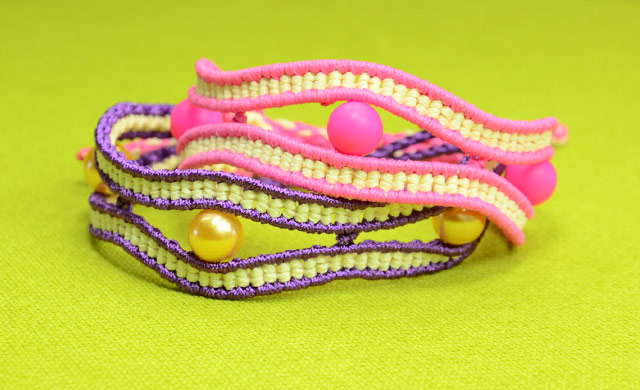Wavy Eye Bracelet Tutorial