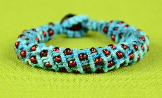 3D Spiral Bracelet with Beads