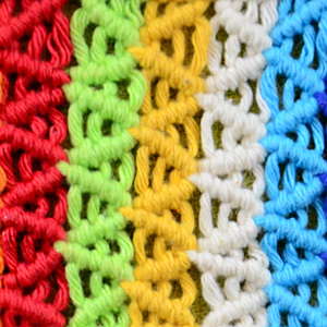 Macrame ABC/Pattern sample #18